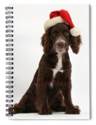 Cocker Spaniel With Santa Hat Spiral Notebook