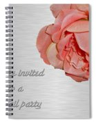 Cocktail Party Invitation - Fabric Rose Spiral Notebook
