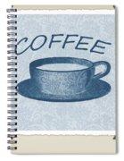 Coffee 1-2 Scrapbook Spiral Notebook
