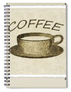 Coffee 3-2 Scrapbook Spiral Notebook