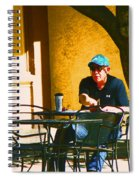 Coffee At The Outdoor Cafe Spiral Notebook