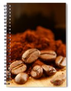 Coffee Beans And Ground Coffee Spiral Notebook