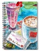 Coffee Break In Agios Nikolaos In Crete Spiral Notebook