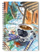 Coffee Break In Elos In Crete Spiral Notebook