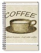 Coffee Cup 3 Scrapbook Spiral Notebook