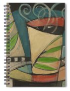 Coffee Cup With Leaves Spiral Notebook