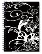 Coffee Flowers 1 Bw Spiral Notebook
