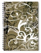 Coffee Flowers 1 Olive Spiral Notebook