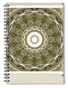 Coffee Flowers 1 Olive Medallion Scrapbook Spiral Notebook