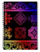 Coffee Flowers Ornate Medallions Color 6 Piece Collage 2 Spiral Notebook
