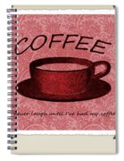Coffee Flowers Scrapbook Triptych 1  Spiral Notebook