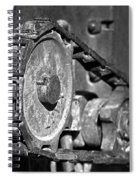 Cog And Chain In Rust Black And White Spiral Notebook