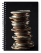 Coin Stack 1 Spiral Notebook