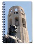 Coit Tower Statue Columbus Spiral Notebook