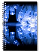 Cold Blue Led Lights Closeup Spiral Notebook