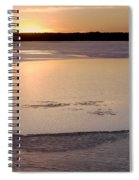 Cold Lake Sunset Spiral Notebook