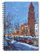 Cold Morning In Elmwood Ave  Spiral Notebook