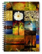 Collage Of Colors Spiral Notebook