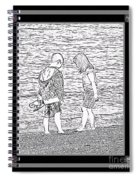 Collecting Seashells By The Seashore Spiral Notebook