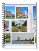 Collection Of Lighthouses Spiral Notebook