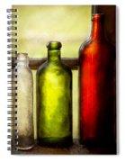 Collector - Bottles - Still Life Of Three Bottles  Spiral Notebook