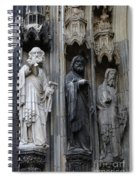 Cologne Cathedral Statues Spiral Notebook