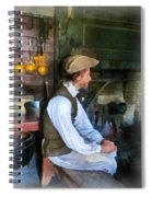 Colonial Man In Kitchen Spiral Notebook