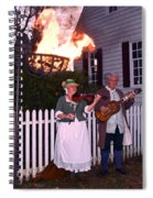 Colonial Musicians By Firelight Spiral Notebook