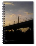 Color Of Sunset Over Metro Pillar In Delhi Spiral Notebook