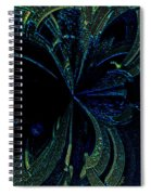Color Study 02 Green Blue Spiral Notebook