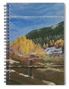 Colorado Almost Winter Spiral Notebook