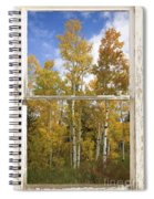 Colorado Autumn Aspens Picture Window View Spiral Notebook