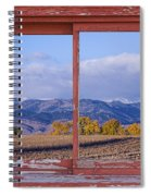 Colorado Country Red Rustic Picture Window Frame Photo Art Spiral Notebook