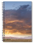Colorado Evening Light Spiral Notebook