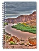 Colorado River Flows Through A Stormy Moab Portal Spiral Notebook