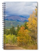 Colorado Rocky Mountain Autumn Scenic Drive Spiral Notebook