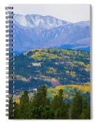 Colorado Rocky Mountain Autumn View Spiral Notebook