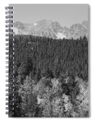 Colorado Rocky Mountain Continental Divide View Bw Spiral Notebook