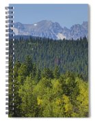 Colorado Rocky Mountain Continental Divide Autumn View Spiral Notebook