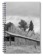 Colorado Rustic Autumn High Country Barn Bw Spiral Notebook