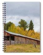 Colorado Rustic Autumn High Country Barn Spiral Notebook
