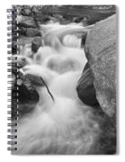 Colorado St Vrain River Trance Bw Spiral Notebook