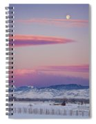 Colorado Winter Moon And Sunrise Spiral Notebook