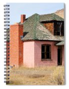 Colorful Abandoned Home In Dying Farm Town Spiral Notebook