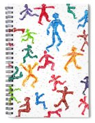 Colorful Acrylic Stickmen Characters Spiral Notebook