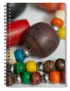 Colorful Beads In Chains Spiral Notebook