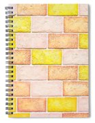 Colorful Brick Wall Spiral Notebook