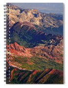 Colorful Colorado Rocky Mountains Planet Art Spiral Notebook
