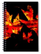 Colorful Fall Leaves Spiral Notebook