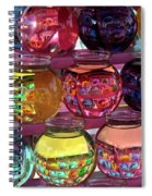 Colorful Fish Bowls Spiral Notebook